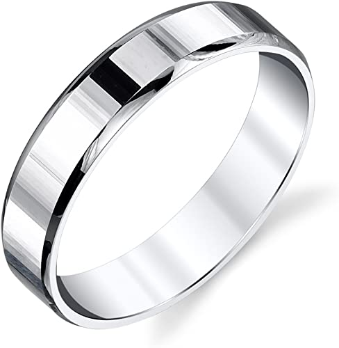 BORUO 925 Sterling Silver Ring Comfort Fit Wedding Band 2mm Ring size P