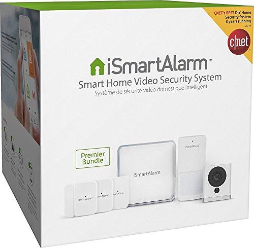 iSmartAlarm ISA9 Smart Home Video Security System Premier Bundle White