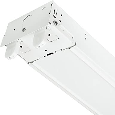 4 Ft Led Ready Suspended Strip Fixture 2 Lamp White Finish Plt