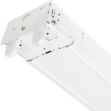 4 Ft Led Ready Suspended Strip Fixture 2 Lamp White Finish Plt
