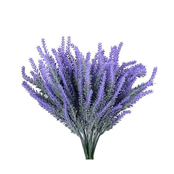 DearHouse-5-Bundles-Artificial-Flower-Lavender-Bouquet-Artificial-Flocked-Lavender-Silk-Flower-Arrangements-for-Home-Decor-and-Wedding-Decoration