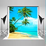 5x7ft Tropical Rainforest Photography Backdrop Summer Beach Background Cloth for Wedding Photo Booth Custom Size Digital Printed Without Wrinkles
