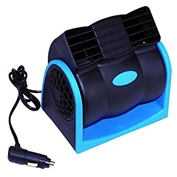 Alloet Portable Electric Car Cooling Air Fan - DC 12V Adjustable Silent Cooler Fan 3 Rotating Switch with Stylish Cage Design for Vehicle Truck