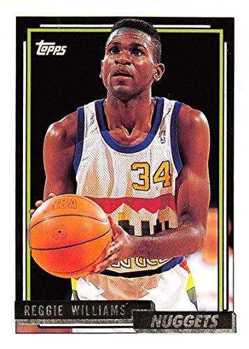 (1992-93 Topps Gold Basketball #13 Reggie Williams Denver Nuggets Official NBA Trading Card)