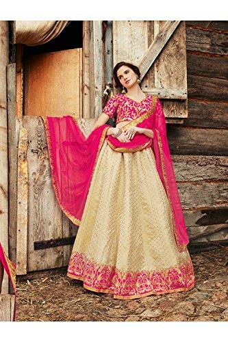 PCC Indian Women Designer Wedding BEIGE Lehenga Choli R-16309