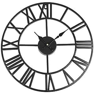 Soledi reloj de pared vintage de hierro di metro 40 cm for Castorama horloge