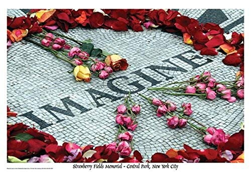 Picture Peddler Laminated Imagine Strawberry Fields Memorial Music Poster 24x36 inch