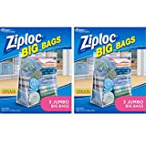Ziploc 3 count Big Closet Organizer Bags Jumbo, 2-Pack