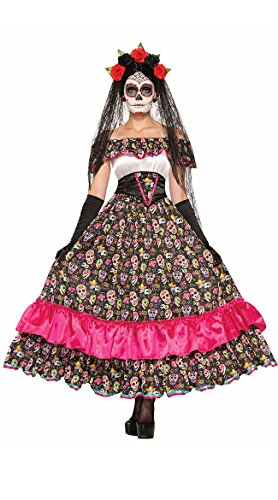 The Dead Of Costumes Headpiece Day Adult (Forum Novelties Women's Day Of Dead Spanish Lady Costume, Multi,)
