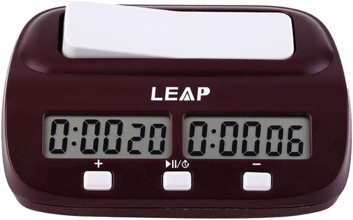 Alarmclocker8B Reloj Digital de ajedrez Temporizador de Cuenta Regresiva Juego de Mesa electrónico Juego portátil de Mano Pieza Humana Maestro Nueva España: Amazon.es: Hogar