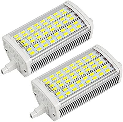 MENGS® 2 piezas R7S LED Bombilla 15W 118mm 48x 5730 SMD 6500K fresco blanco AC 85-265V LED con carcasa de aluminio