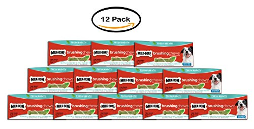 PACK OF 12 - Milk-Bone Brushing Chews Fresh Breath Daily Den