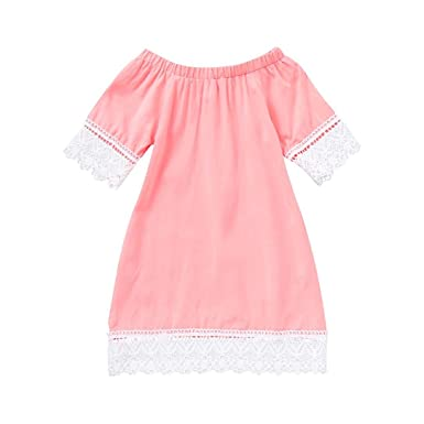 973013f77efe Amazon.com  KONFA Teen Toddler Baby Girls Floral Lace Dress ...