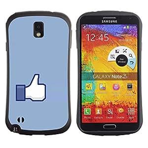 Suave TPU GEL Carcasa Funda Silicona Blando Estuche Caso de protección (para) Samsung Note 3 / CECELL Phone case / / Hand Sign Ok Thumb Up Blue Symbol Simple /