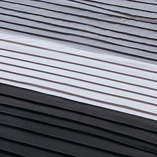 Comfort Spaces – Windsor Comforter Set- 5 Piece – Black, Grey, Light Grey – Pintuck pattern – King size, includes 1 Comforter, 2 Shams, 1 Decorative Pillow, 1 Bed Skirt