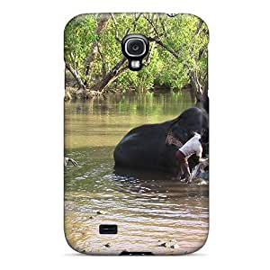Hot Style JXdKaOS4717BbJuC Protective Case Cover For Galaxys4(elephants Bath 3) by supermalls