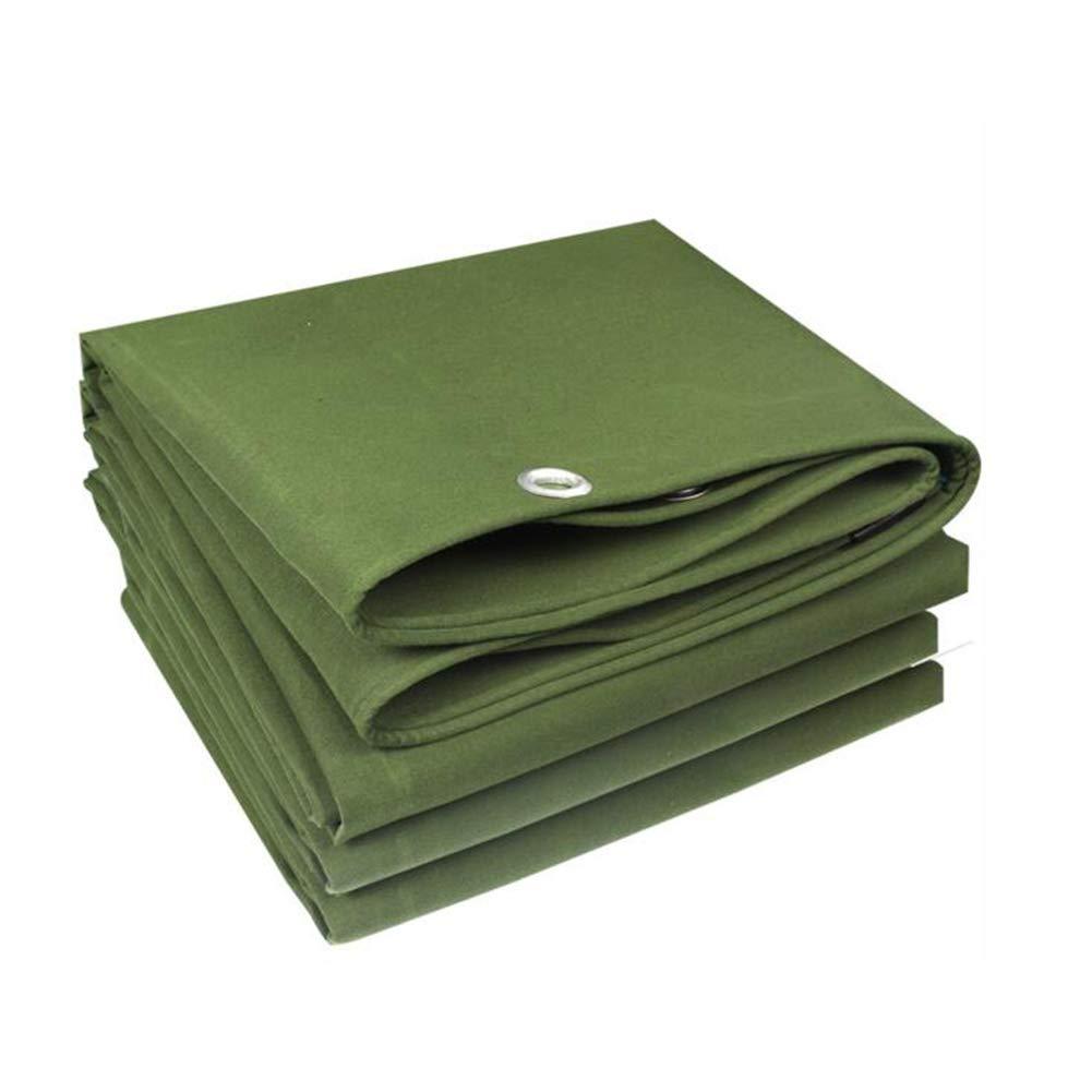 DALL ターポリン タープ 防水 ヘビーデューティー 500g /m² 日焼け止め キャンバス 厚さ0.8mm (色 : Green, サイズ さいず : 5*5m) 5*5m Green B07KPSKZFP