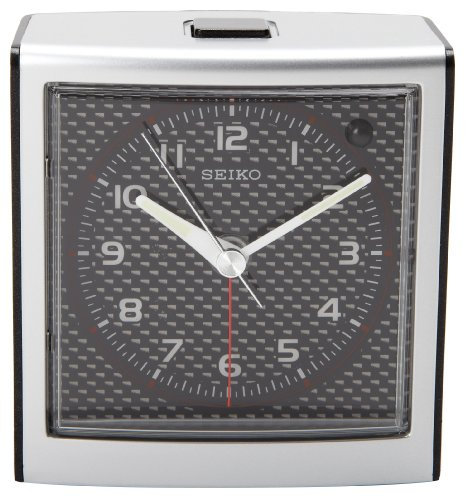 Clock Silver-Tone Metallic Case ()