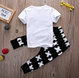 Little Boys Short Sleeve Letters Print T-shirt and
