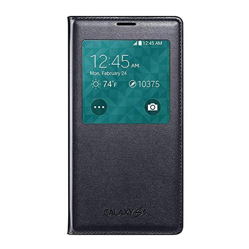Samsung Galaxy S5 Case S View Flip Cover Folio, Black (Bulk Packaging)