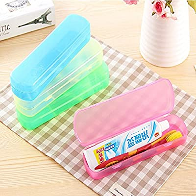 Modern Design Portable Candy Colors Hygienic Travel Camping Toothpaste Toothbrush Holder Protect Case Storage Box