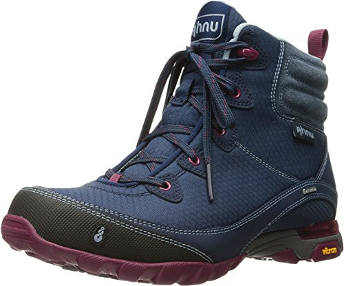 Ahnu Women's Sugarpine Waterproof Hiking Boot,Blue Spell Waterproof Nubuck,US 5.
