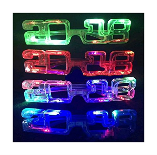 12-PCS Light Up New Year's Party/2018/Graduation/Glasses Glowing Eyes Led Shades from Unknown