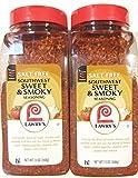 Lawry's Salt Free Southwest Sweet & Smoky Seasoning 13 ounce (Pack of 2)