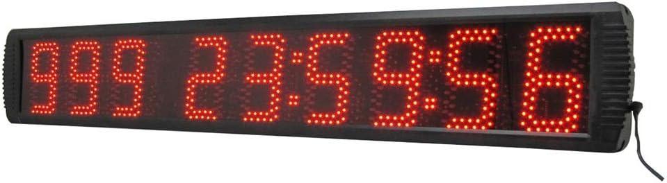 トレーニングタイマー 5インチLEDデジタル時計カウントダウンタイミング分秒タイマーリモートコントロールブラック さまざまな場面に適しています (色 : ブラック, サイズ : 5-inch) ブラック 5-inch