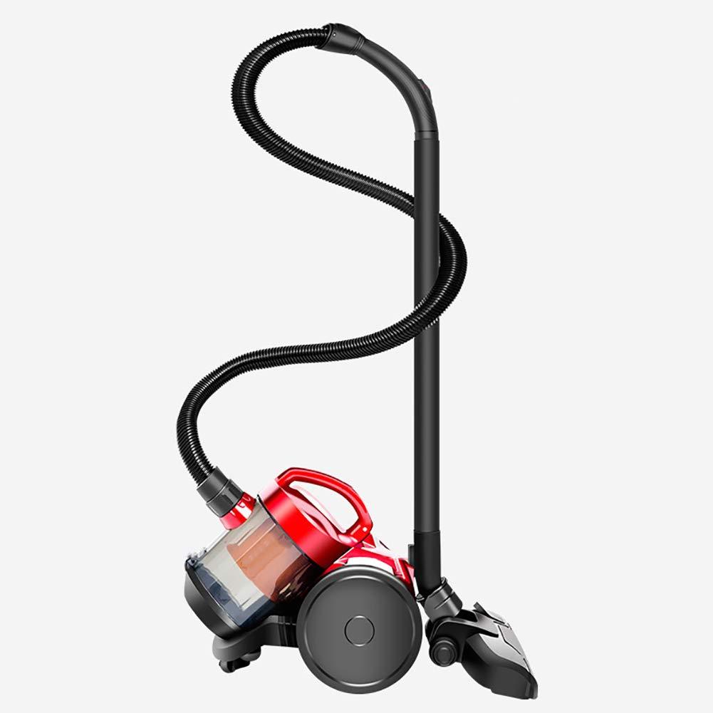 カーペットやハードフロアの bagless キャニスタ掃除機 ペットに優しい, 23kpa, 1400 w, 1 l-レッド  レッド B07GLB472C