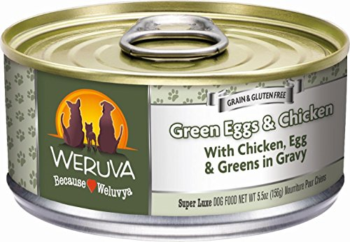 Weruva Classic Dog Food, Green Eggs & Chicken with Chicken Breast & Pumpkin in Gravy, 5.5oz Can (Pack of 24)