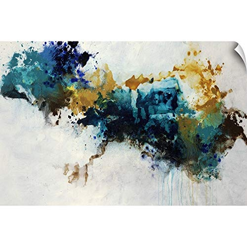 CANVAS ON DEMAND Teal Splat Wall Peel Art Print, 24