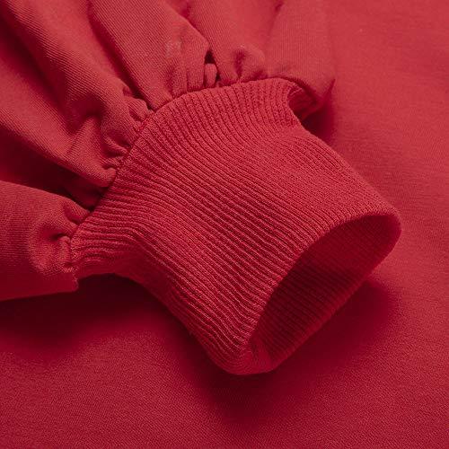 Solido Tasche Ponticelli BYSTE con cappuccio Felpa Uomo Autunno Lunghe per Hoodies Felpe Sweatshirt Donna Rosso adolescenti Maniche Coulisse Inverno Unisex Xx0BnqWU