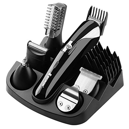 Hair Clippers Set Multi Groomer 15 PIECES Cordless Shavers Easy Clean Nose Beard Mustaches Body Face Eyebrow Hair Precision Clipper Trimmer For Men Women With Comb,Ideal Gift Haircut Kit For Family