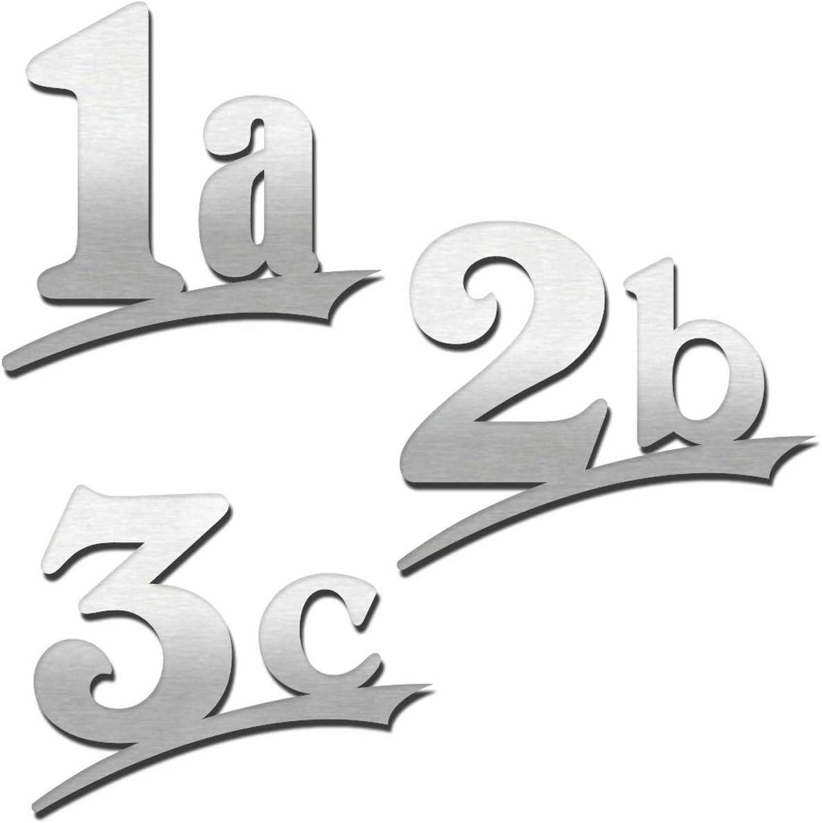Hausnummer 3-stellig //16cm Ziffernh/öhe in Anthrazit RAL7016,Schwarz oder Wei/ß