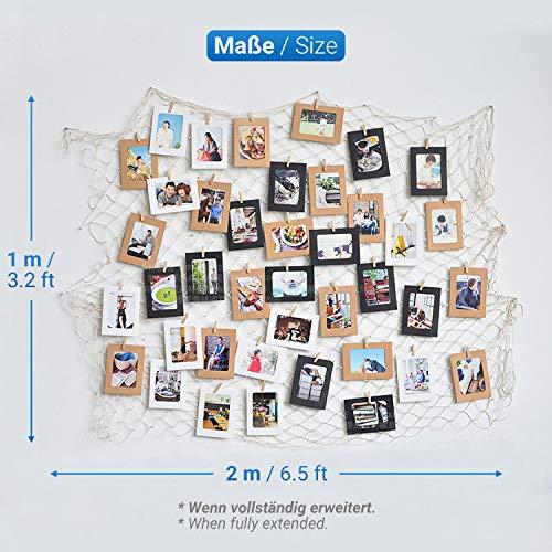 Foto Appesa General Cornice Portafoto da Parete con 40 Foto Clips Decorazione della Parete della Foto