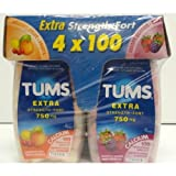 TUMS Extra Strength 750mg, 100 count x 4