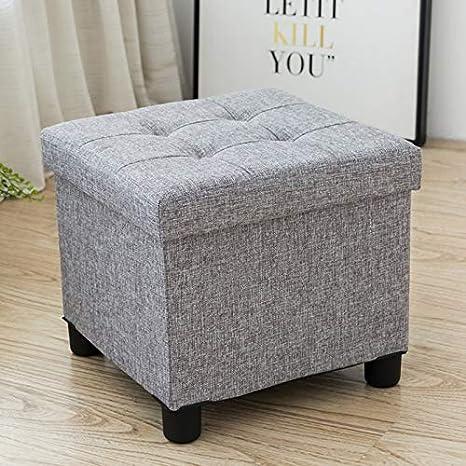 Amazon Com Cassilia Foldable Storage Ottoman Square Cube Coffee