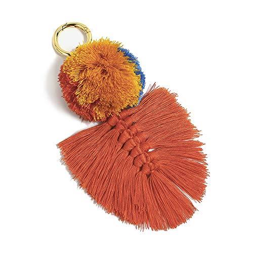 Colorful Boho Pom Pom Tassel Bag Charm Key Chain (U04 style)
