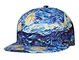 NUZADA Boys Girls Flat Brim Cap Breathable Hip Hop Hat with Adjustable Closure