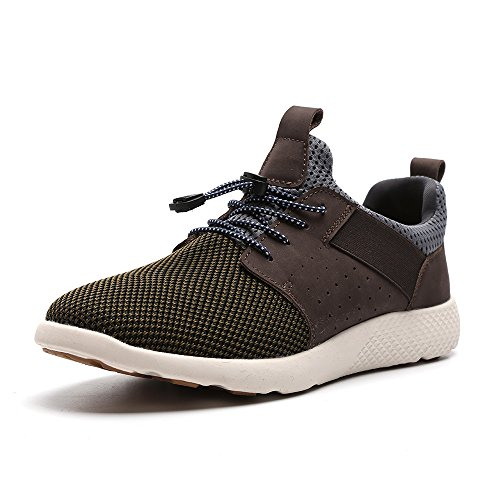 Breathable Dark Gym Running Athletic Casual Mesh Sneakers Men Fashion 1 Shoes Brown Walking 7036 7xw50wtY
