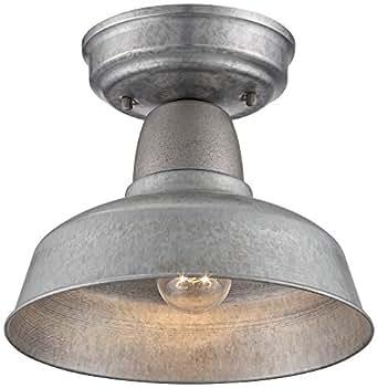 Urban Barn 10 1/4 Wide Galvanized Steel Ceiling Light