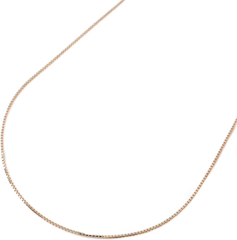 18金 ネックレス 50cm 1.9g ピンクゴールド ベネチアン チェーン フリーサイズ スライド K18