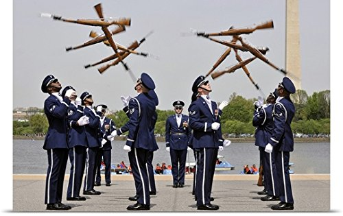 United States Air Force Honor Guard - greatBIGcanvas Poster Print entitled The United States Air Force Honor Guard Drill Team by Stocktrek Images 48