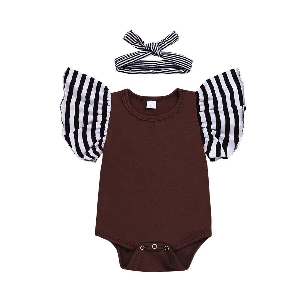 Zohto Promotion:Romper Jumpsuit Baby Girl,Summer and Spring Newborn Infant Floral Flower Print Princess Bodysuits
