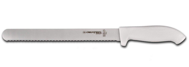 Dexter Russell SG140-12SC-PCP SofGrip 12'' Scalloped Roast Slicer