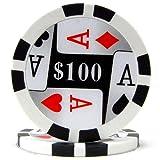 Trademark Poker Premium 4 Aces 50 Poker Chips (100-Piece), 11.5gm