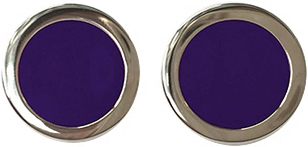 Purple//Gold Tyler and Mens Two Tone Bold Cufflinks