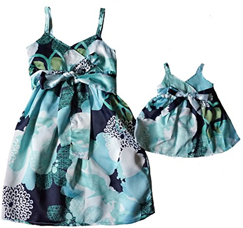 Size 5 Matching Girl And Doll Satin Sundress