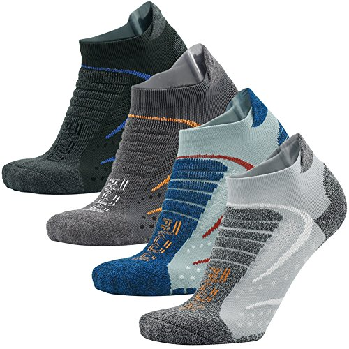Facool Mens High Performance Low Cut Athletic Running/Hiking Cushion Sports Socks 3/4/6 Pairs